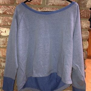 Forever 21 Blue Crop Long Sleeve